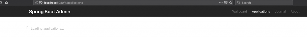 Spring Boot Admin Server - Empty | amitph